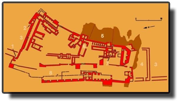 Схема замка в Эль-Карак.