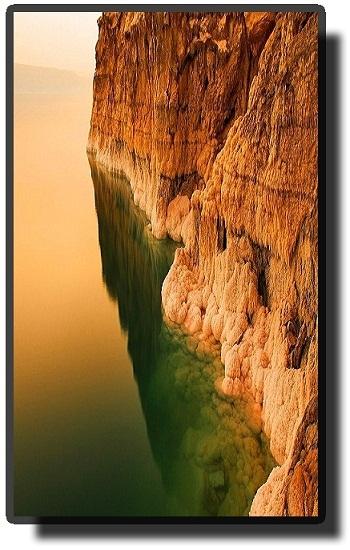 Мертвое море закат - отражение воды