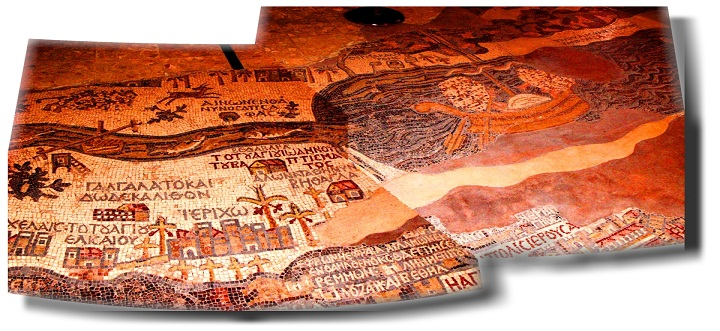 Мадаба - Панорама-мозаика знаменитая карта