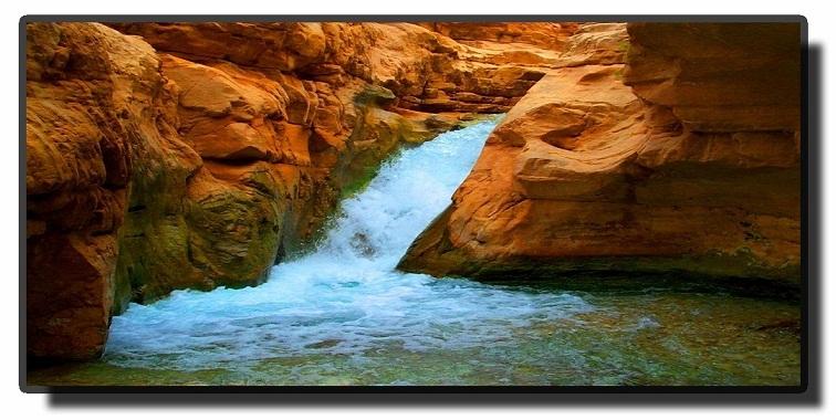 Вади эльМуджиб- водопад